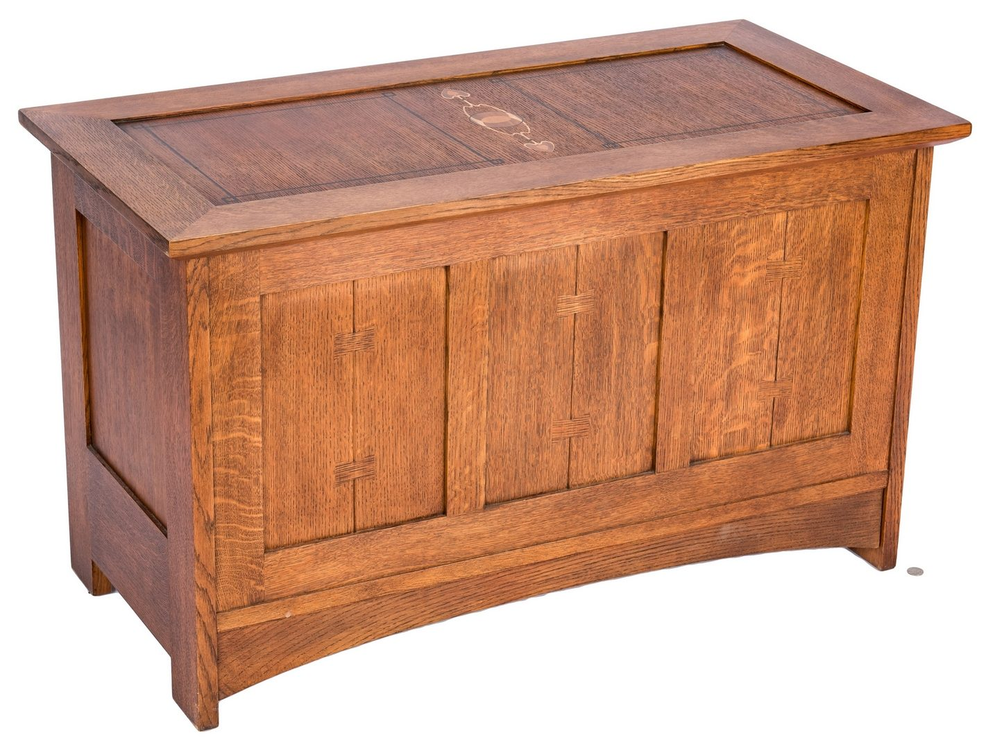 Lot 117: Stickley Inlaid Oak Inlaid Chest