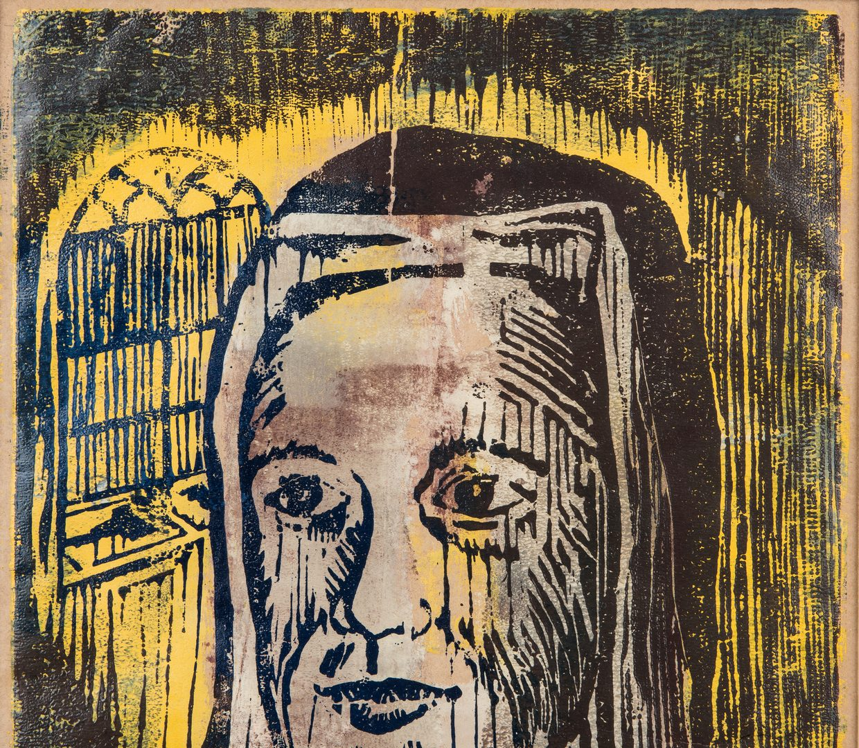 Lot 121: William Weege Color Wood Block Print, The Nun