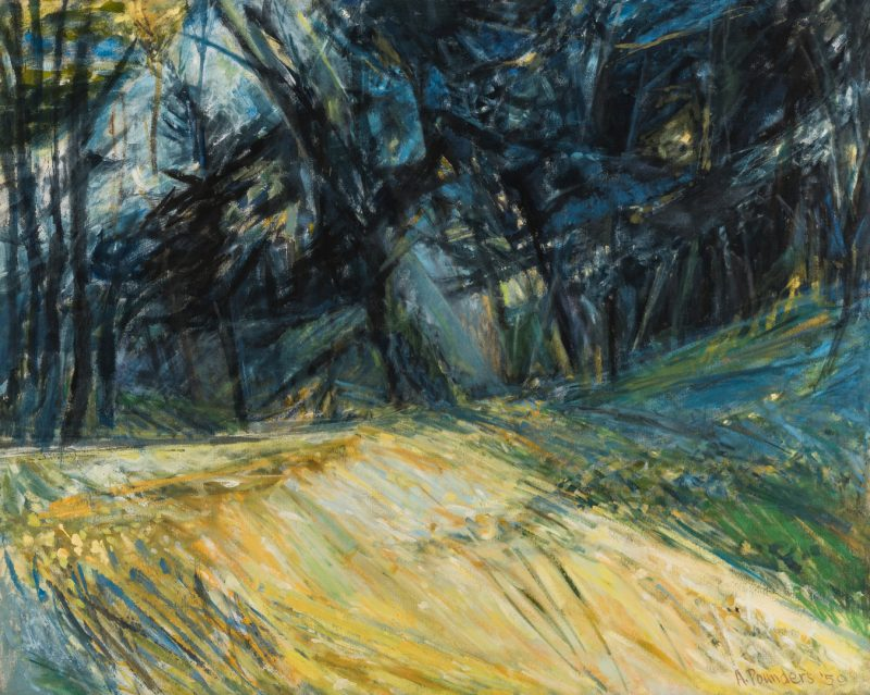 Lot 122: Alfred J. Pounders O/C Expressionist Painting, Morning Forest