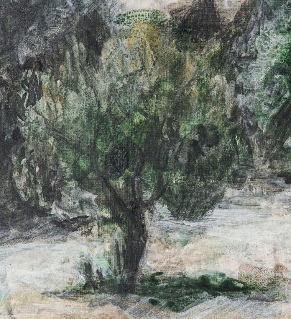 "Lot 126: Joanna Higgs Ross Landscape, ""Green and White Orchard"""