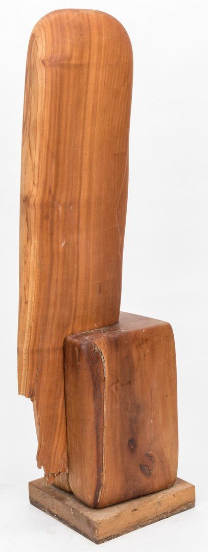 Lot 127: Olen Bryant Wood Sculpture of Two Figures