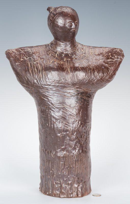 Lot 129: Olen Bryant Brown Ceramic Standing Angel