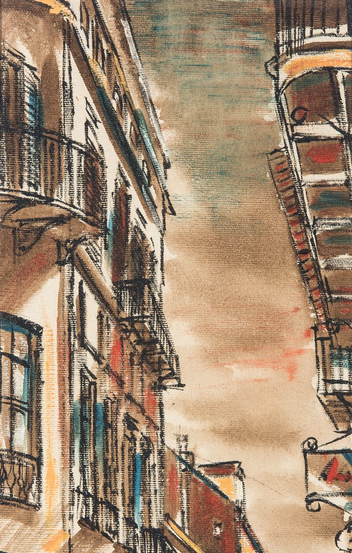 Lot 130: Pair of Franz Weiss New Orleans Street Scene Paintings