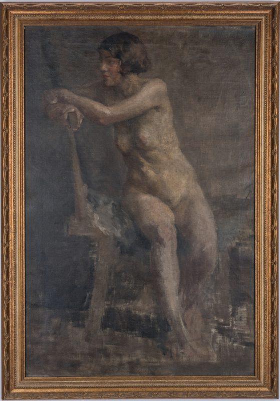 Lot 131: Oil on Canvas Female Nude
