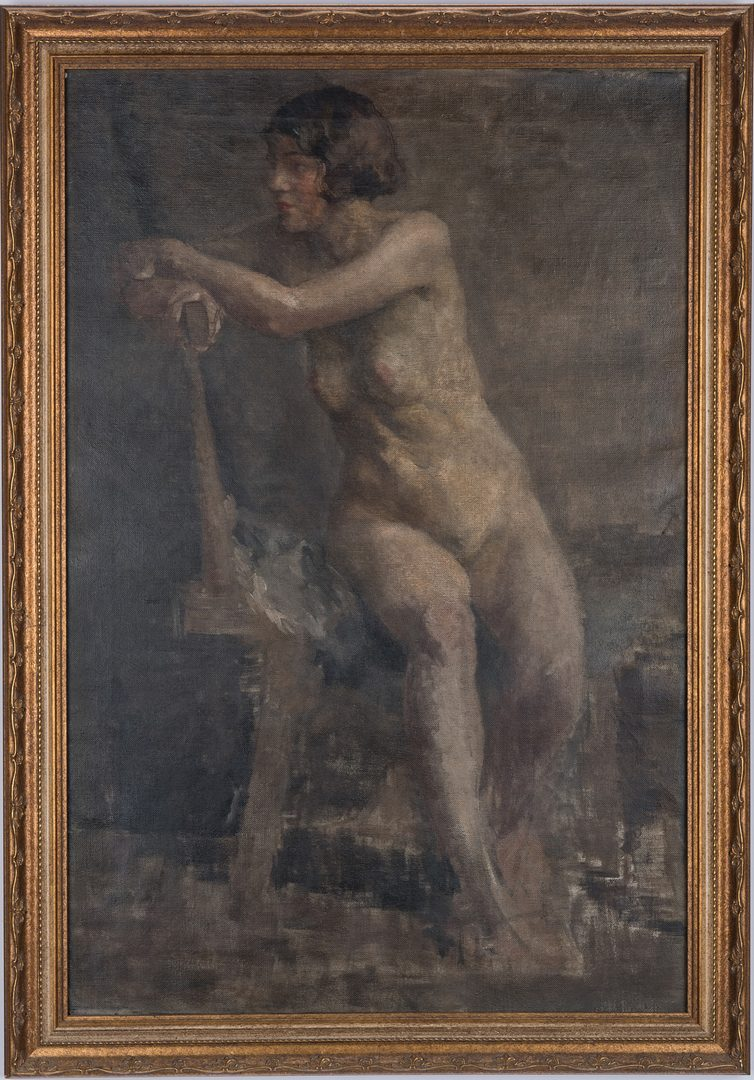 Lot 131: Oil on Canvas Female Nude