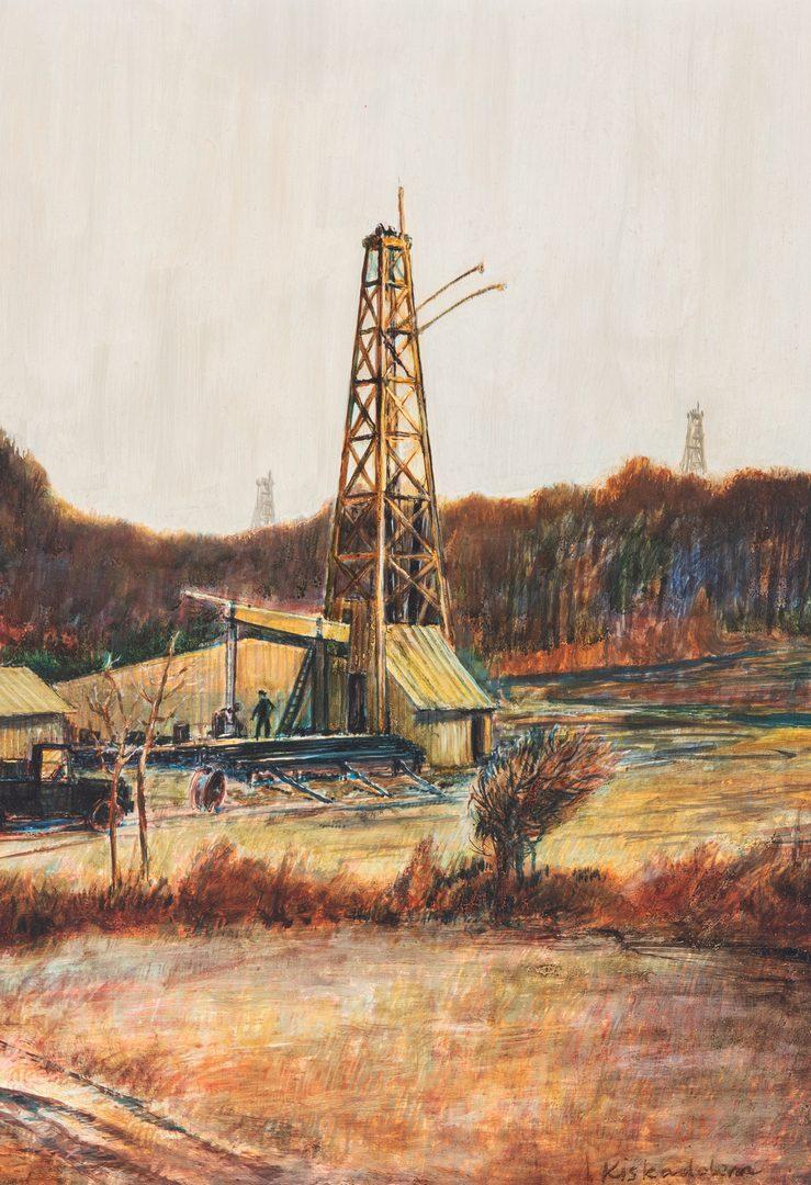Lot 132: Robert Kiskadden O/B, Landscape with Oil Well