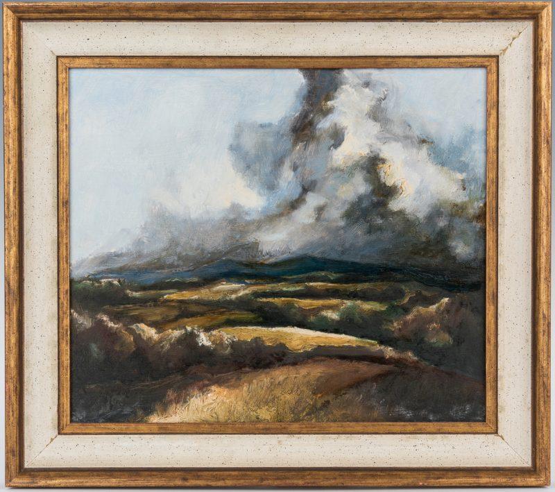 Lot 135: American School O/B Landscape Painting