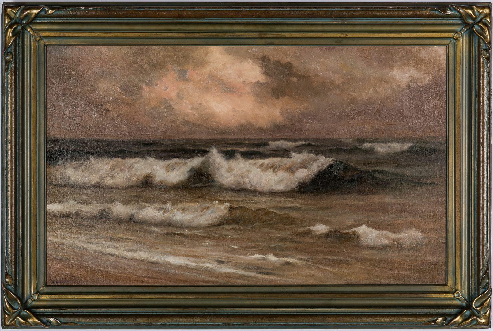 Lot 136: William Halsey O/C, Crashing Waves Seascape