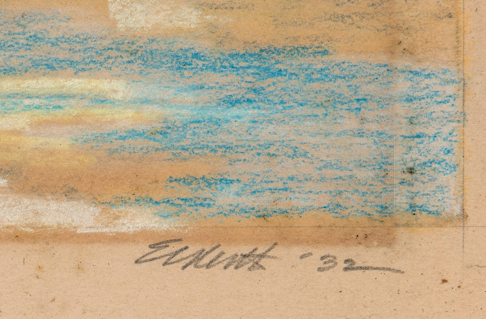 Lot 137: Signed American School Pastel of the Alamo