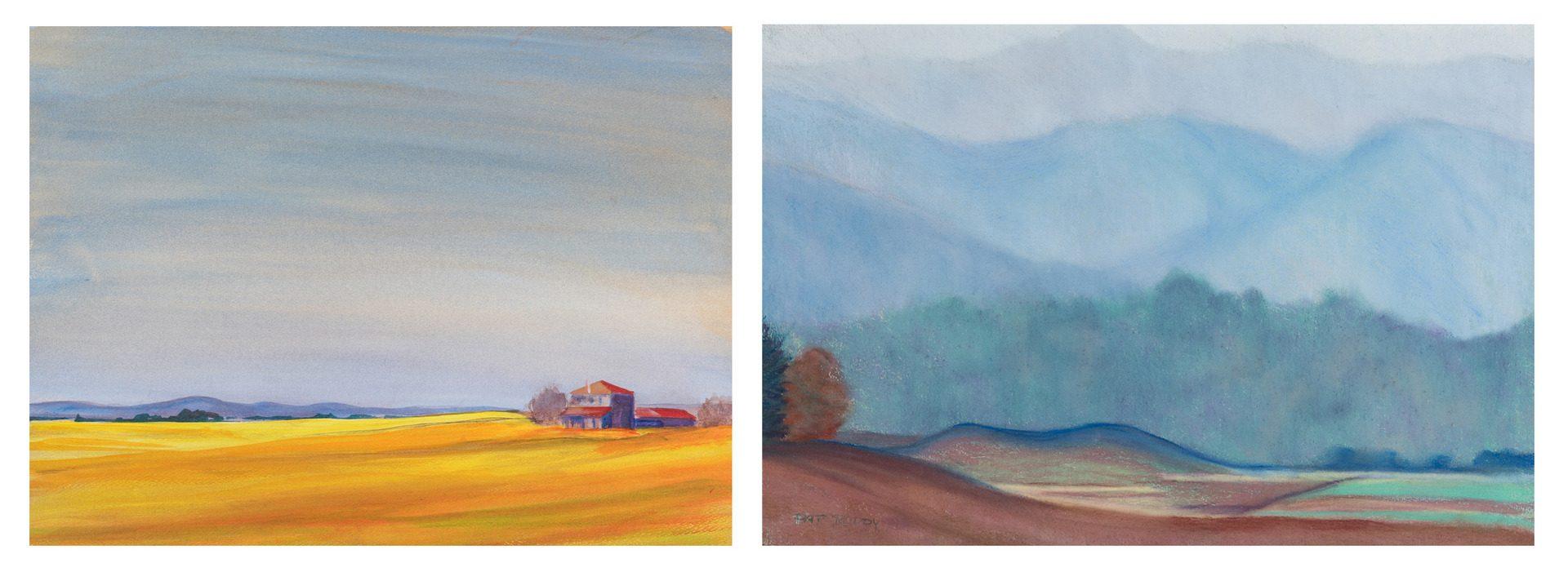 Lot 139: 2 Pat Roddy TN Landscape Paintings