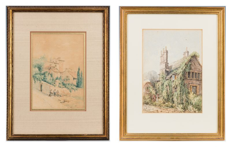 Lot 140: 2 Thomas Campbell W/C Paintings, England & Italy