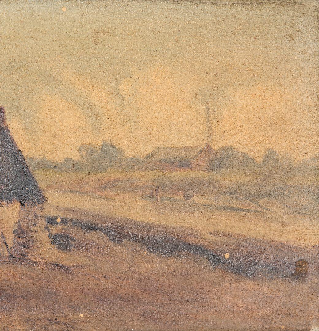 Lot 141: 2 TN Thomas Campbell European O/B Paintings