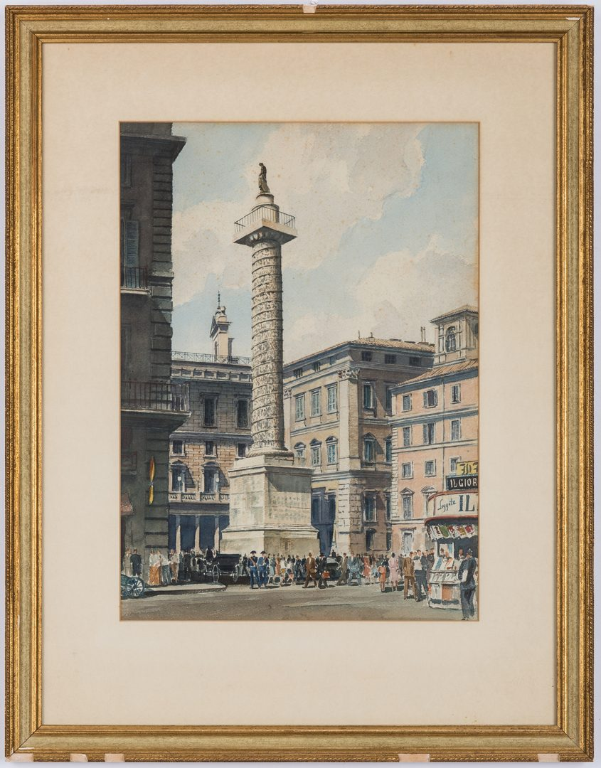 Lot 142: 3 Nowland Van Powell Roman Watercolor Paintings