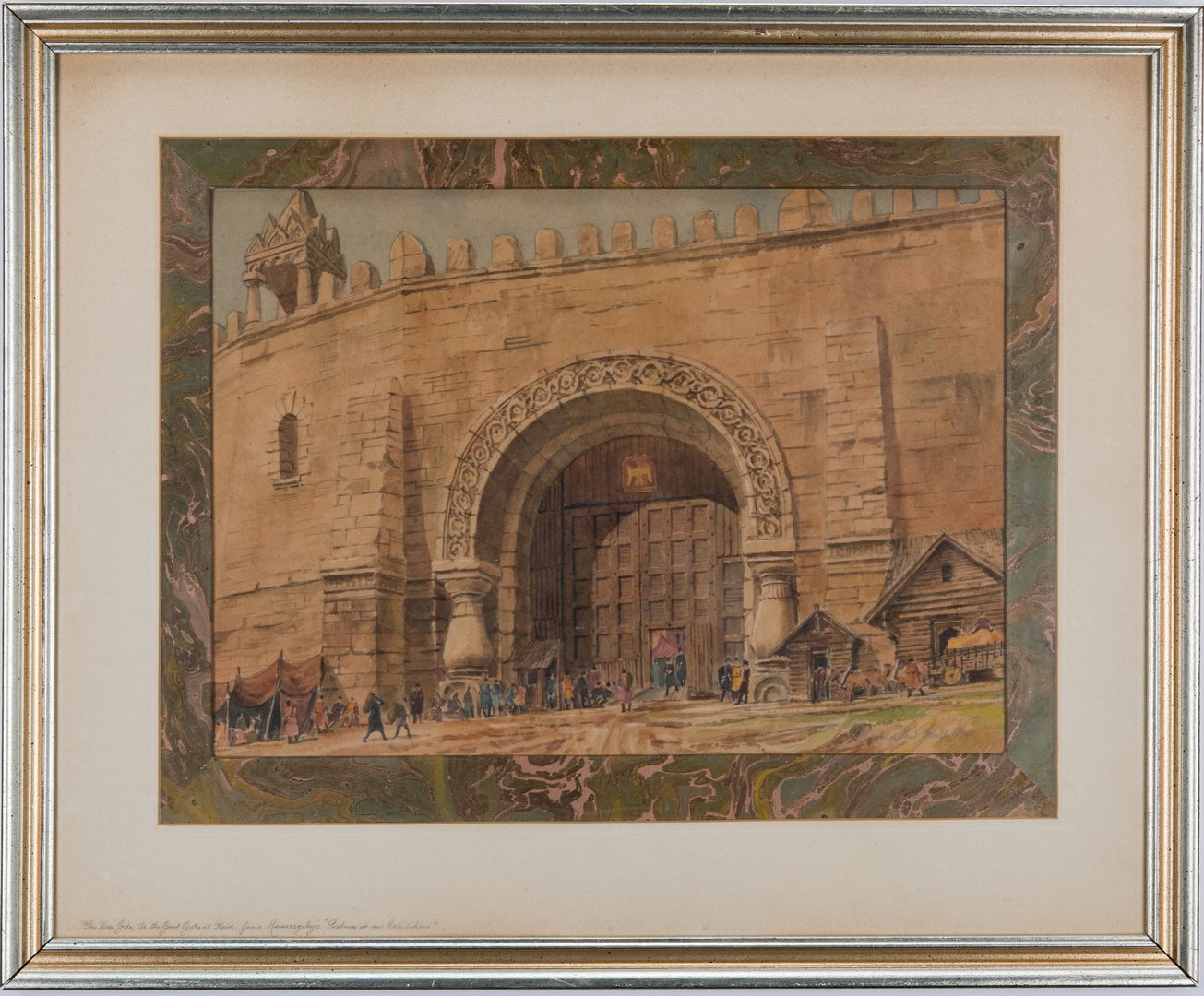 Lot 143: 2 Nowland Van Powell European Watercolor Paintings