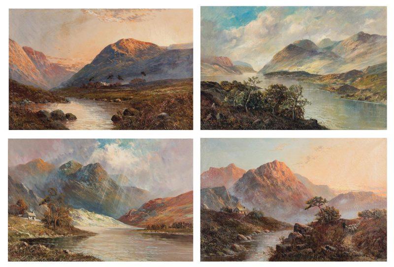 Lot 148: 4 F. E. Jamieson O/C, Scottish Landscape Paintings