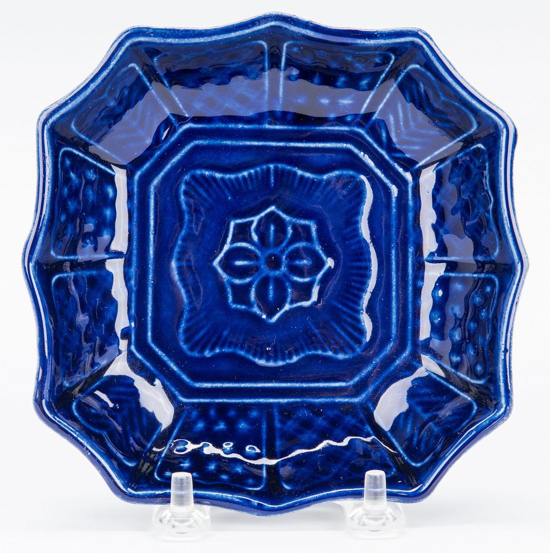 Lot 14: 4 Cobalt Glaze Asian items
