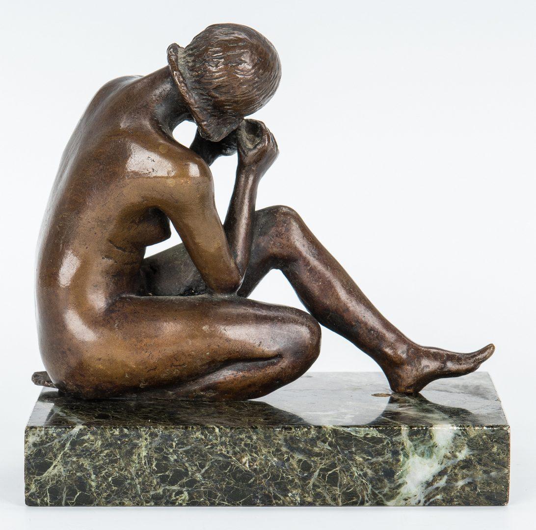 Lot 150: Art Deco Lamp & Bronze Sculpture, 2 items
