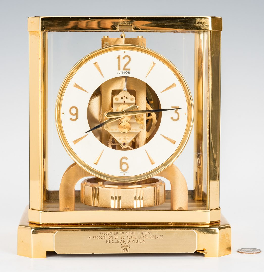 Lot 155: Le Coultre Brass Atmos Mantle Clock