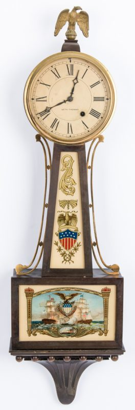 Lot 156: Seth Thomas Banjo Clock