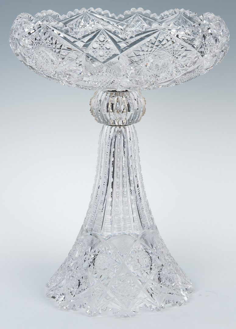 Lot 158: Brilliant Cut Glass Compote w/ Skirted Base