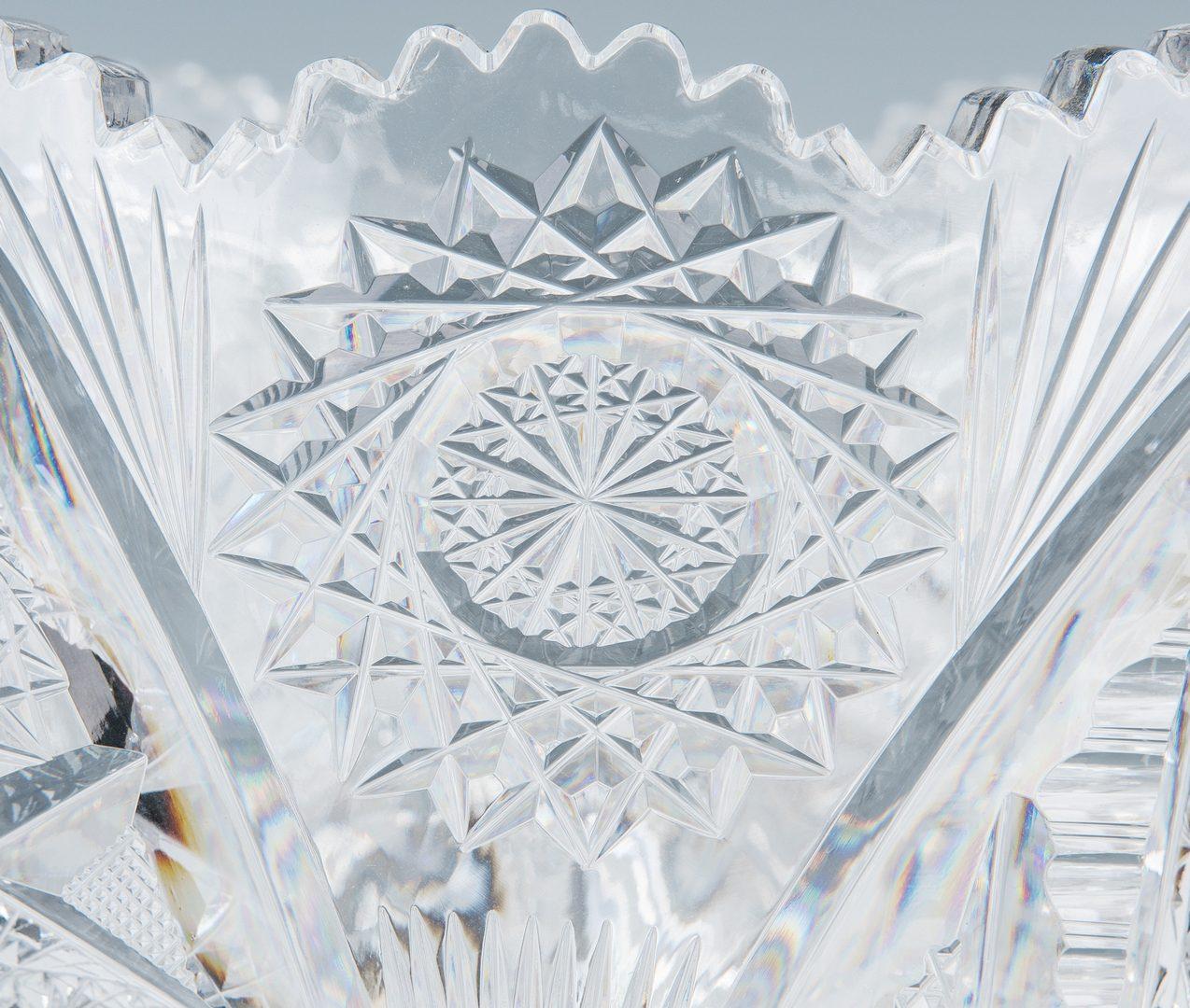 Lot 159: Brilliant Cut Glass Pedestal Punch Bowl