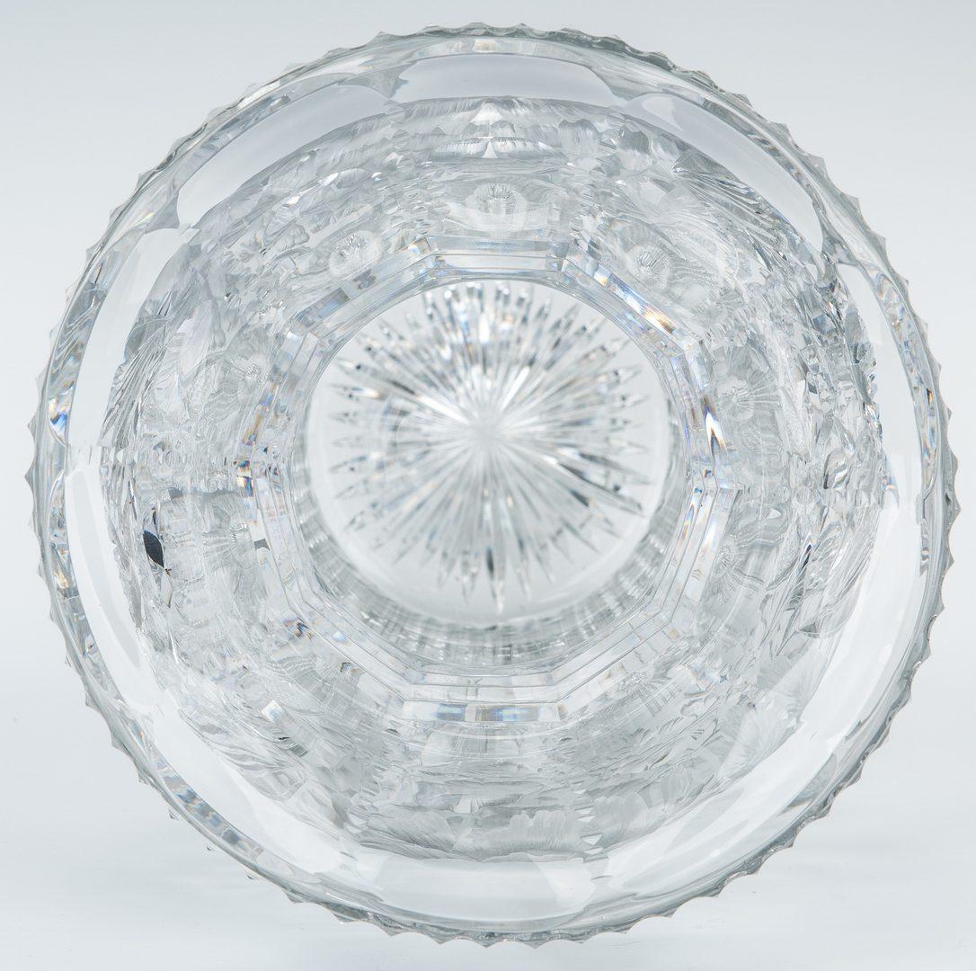 Lot 161: Large American Brilliant Cut Glass Vase