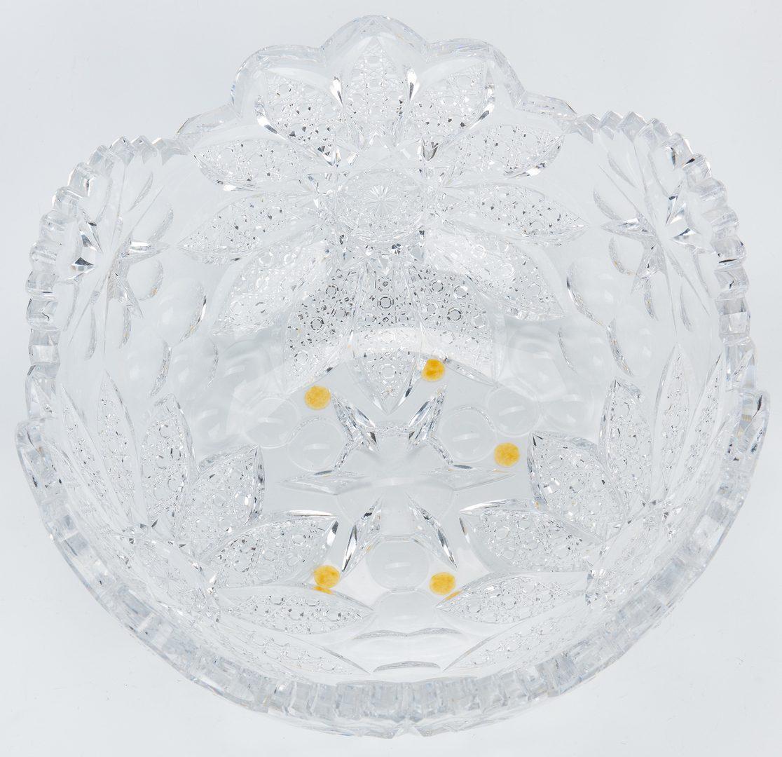 Lot 163: Hawkes Brilliant Cut Glass Bowl