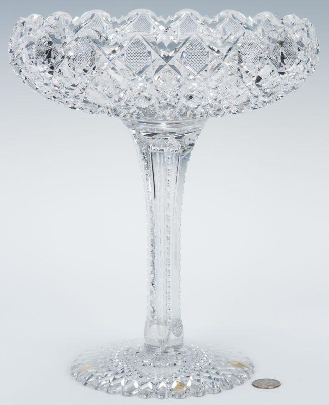 Lot 164: American Brilliant Cut Glass Compote