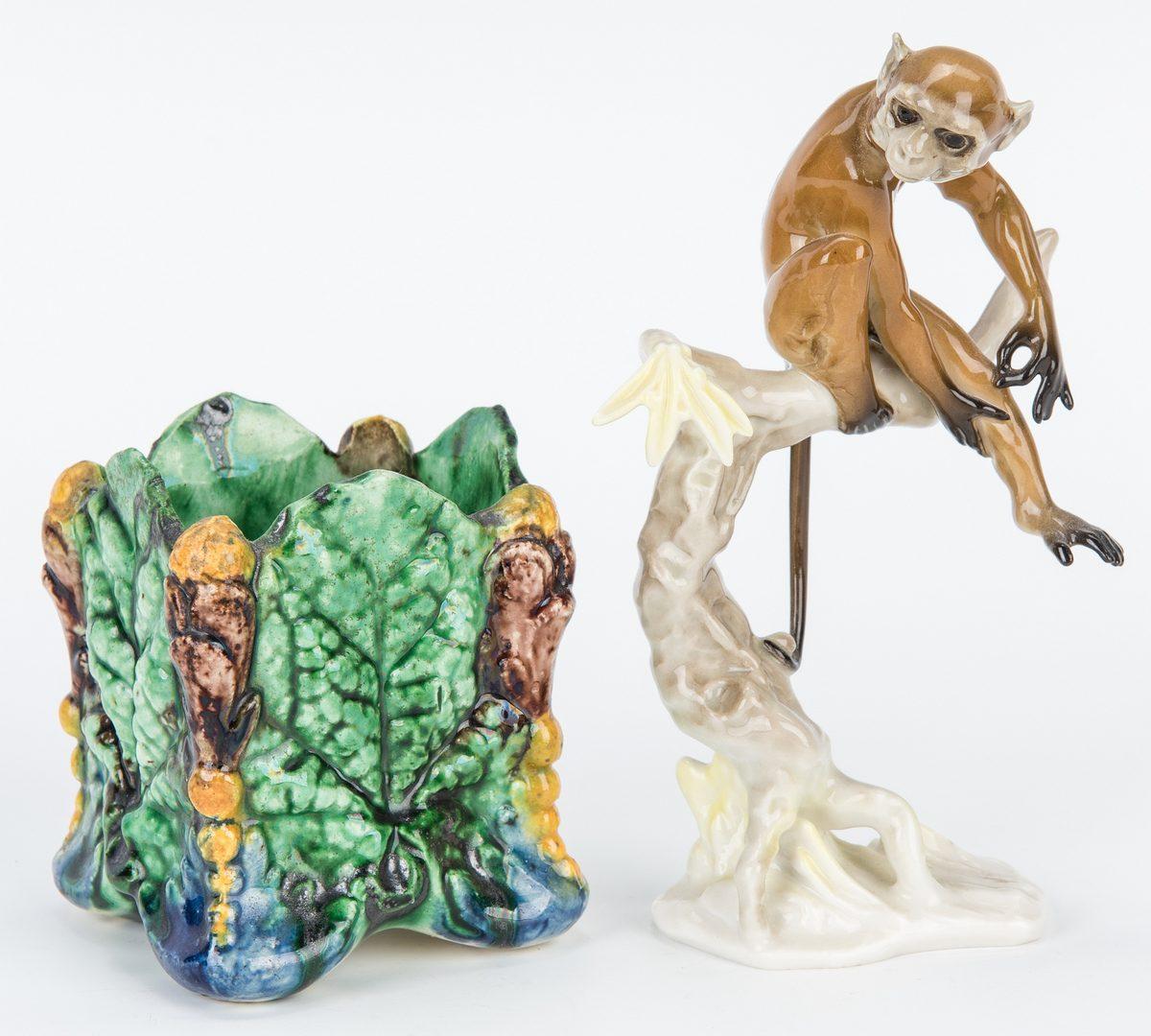 Lot 171: Majolica & German Ceramics incl. Monkeys