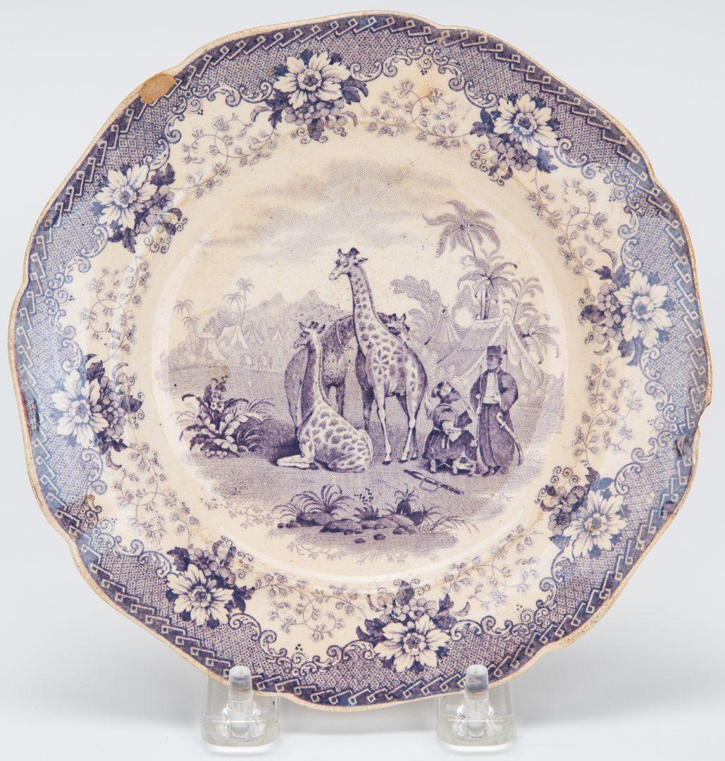 Lot 176: 3 Transferware Dishes incl. Giraffe