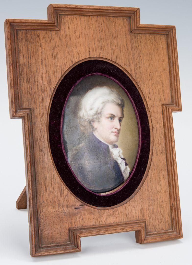 Lot 181: 5 miniature ptgs. incl. Mozart Portrait