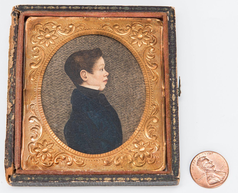 Lot 182: Signed Miniature Portrait, J.W. Thomas 1824