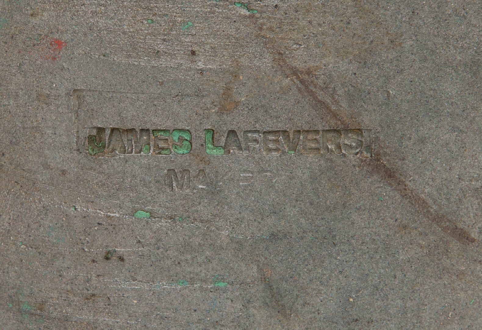 Lot 188: James Lafever 5-gallon Pottery Jug