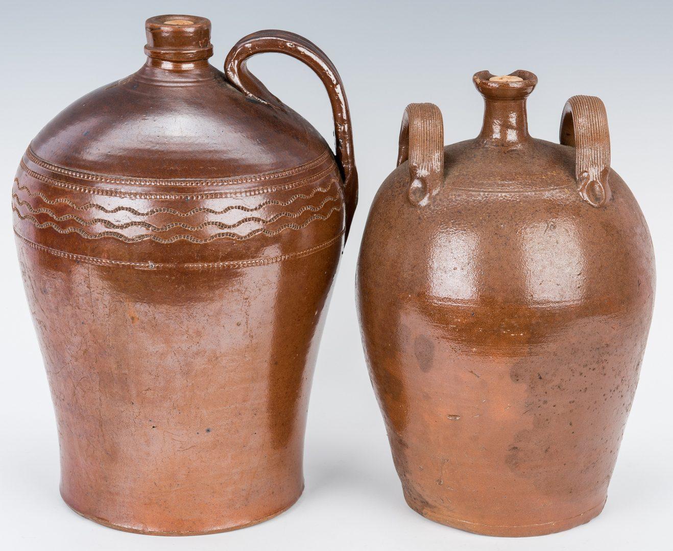 Lot 191: 2 English Stoneware Pottery Jars