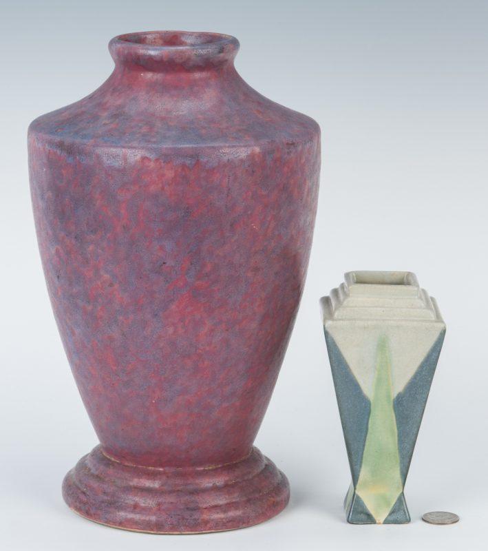 Lot 192: 2 Roseville Vases, Carnelian II & Futura