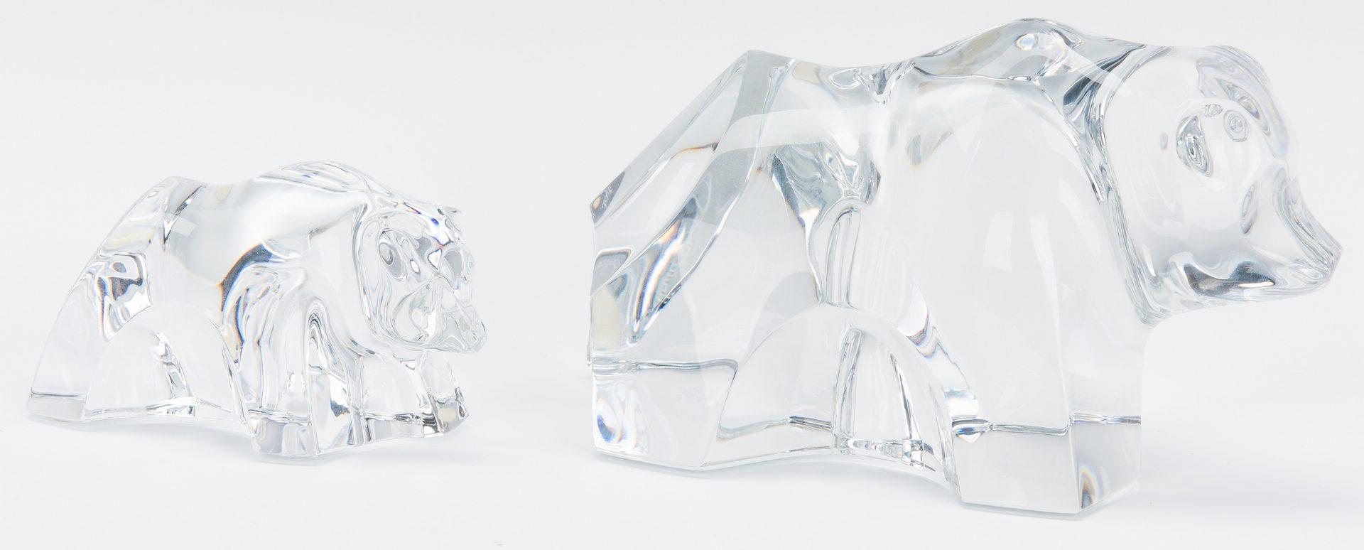 Lot 199: 7 Baccarat Crystal Animal Figurines
