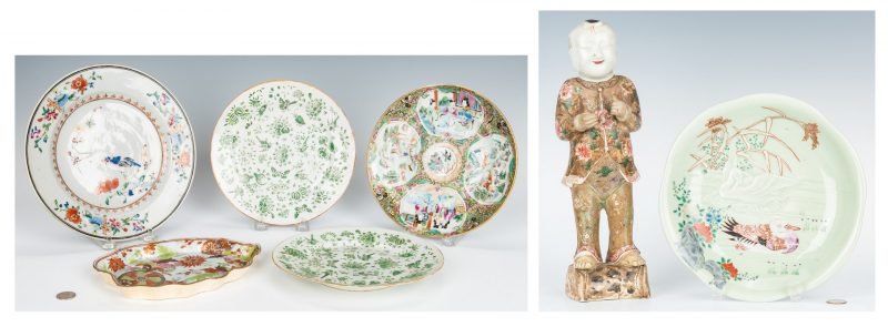 Lot 208: 7 Asian Porcelain Items, incl. 5 Chinese Export, 2 Japanese