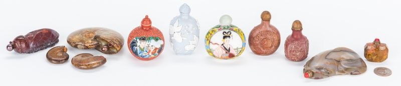 Lot 213: 11 Assorted Chinese Snuff Bottles