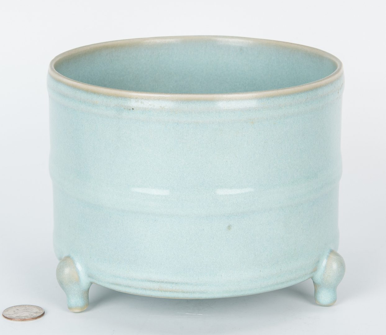 Lot 216: Chinese Ding Style Vase & Longquan Celadon Censer, 2 items