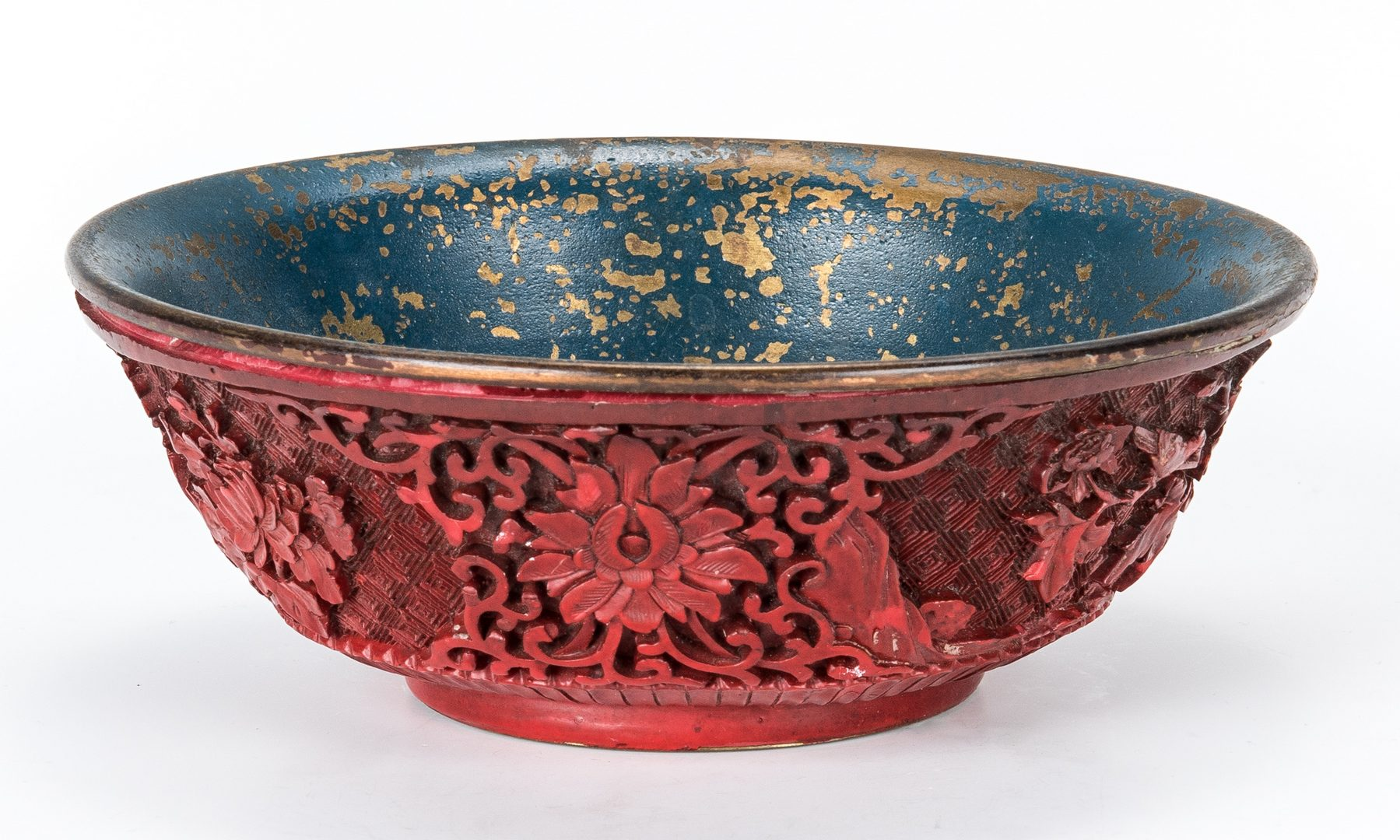 Lot 224: 3 Carved Hardstone Items & 1 Cinnabar Bowl