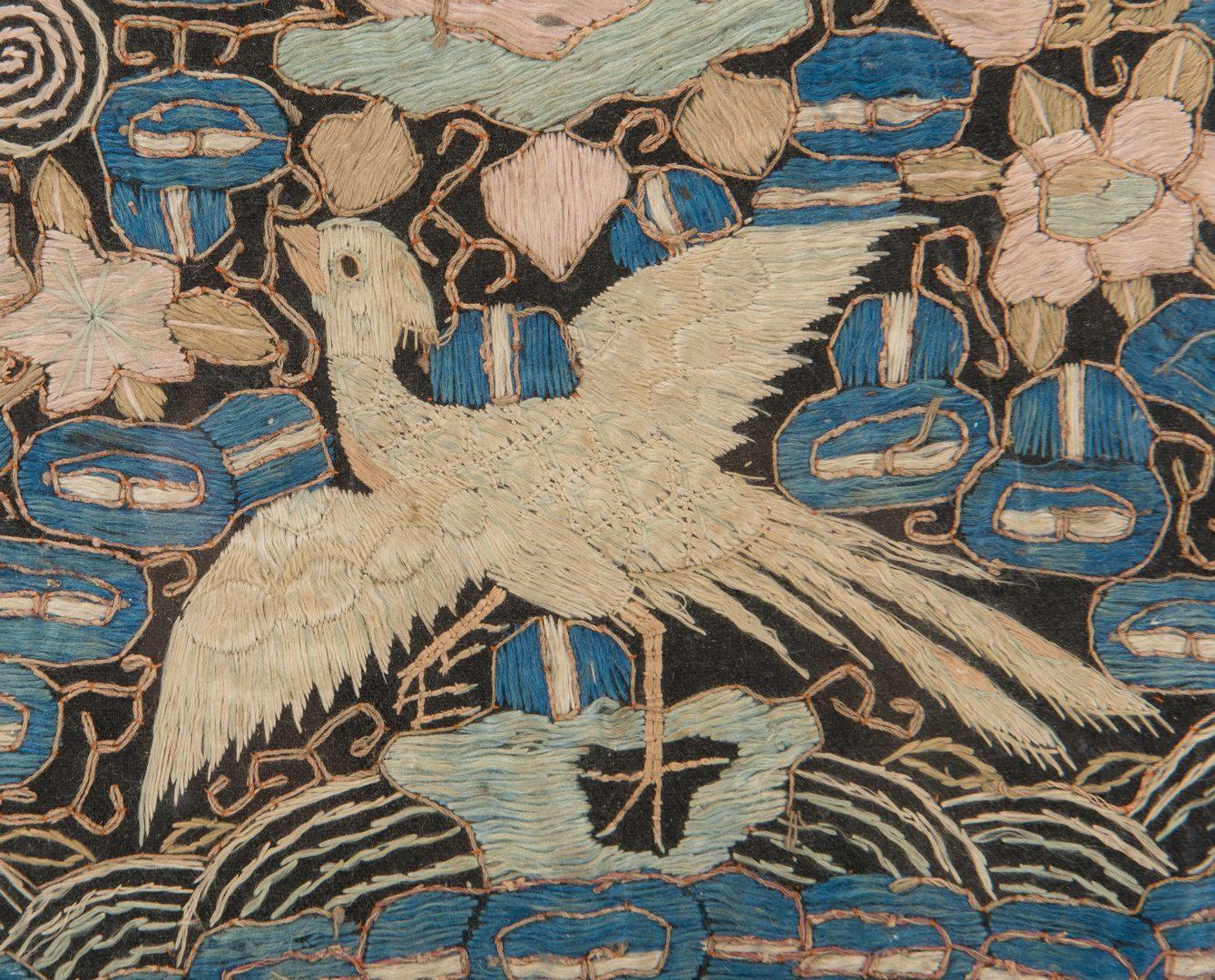 Lot 228: 2 Chinese Textiles & 1 Tibetan Thangka