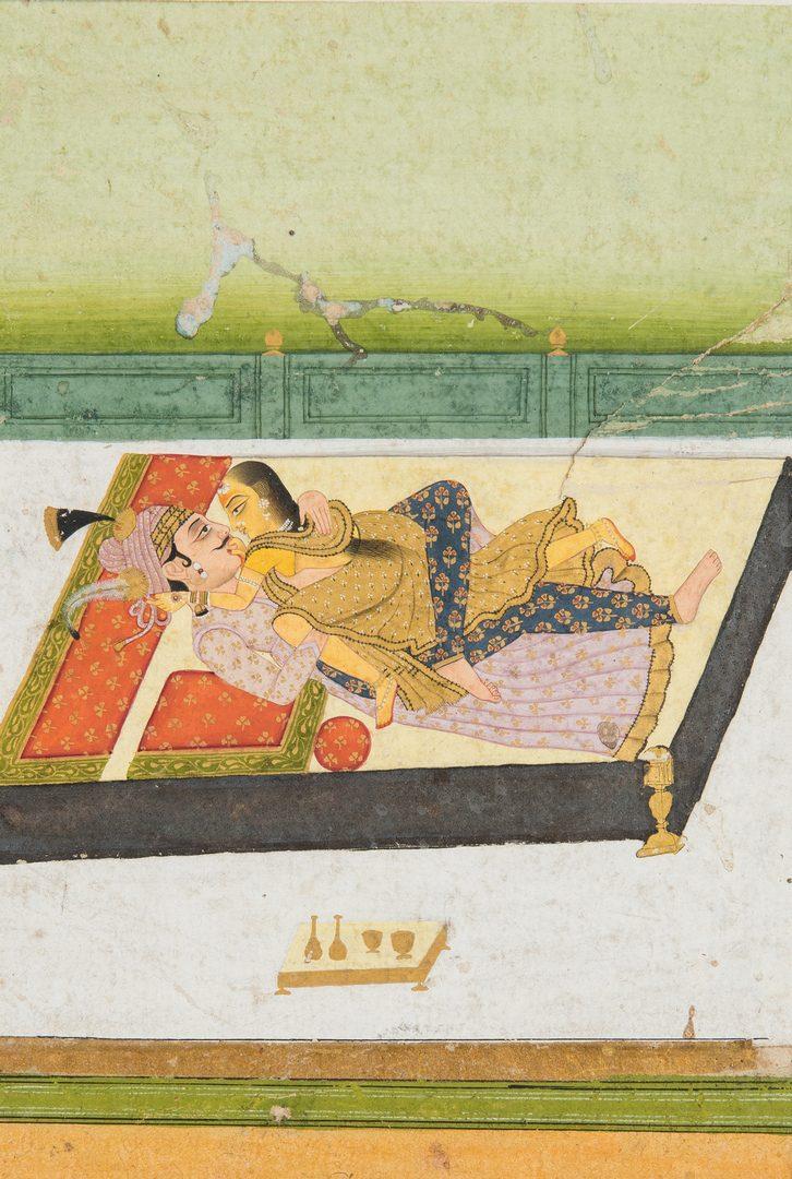 Lot 22: 4 Asian Works of Art, incl. thangka fragment/Indian watercolors