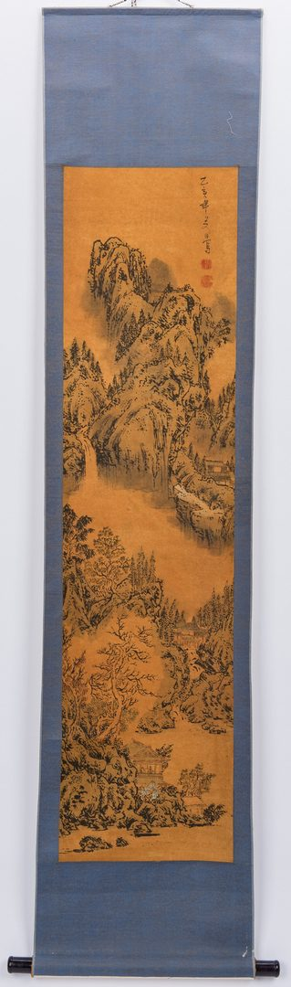 Lot 230: 5 Asian Scroll Landscape Painting