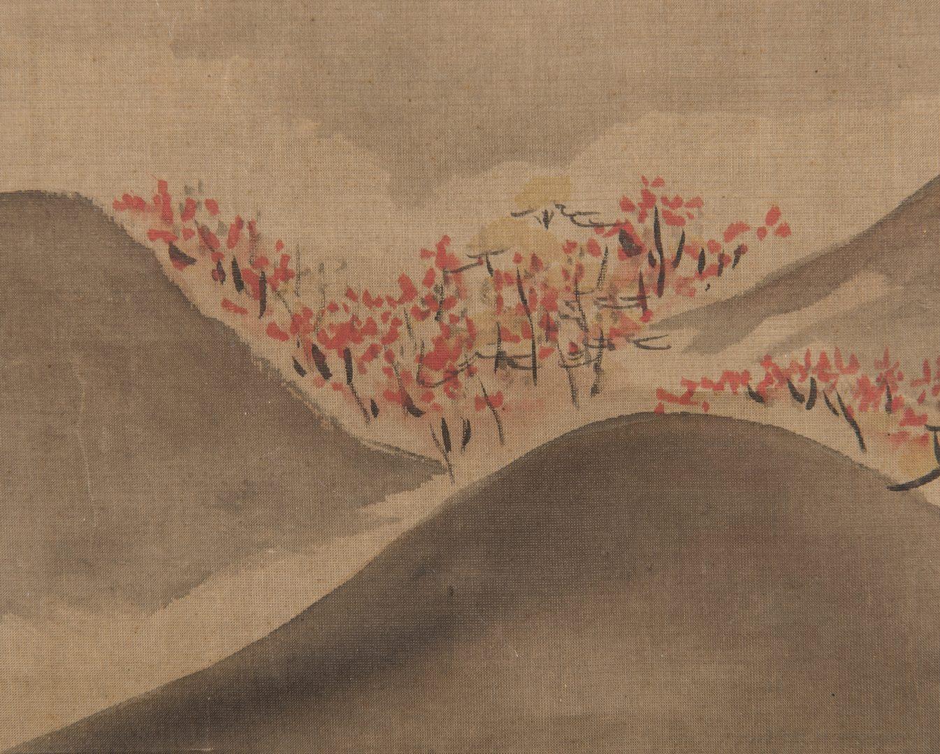 Lot 234: Edo Scroll, Mount Fuji