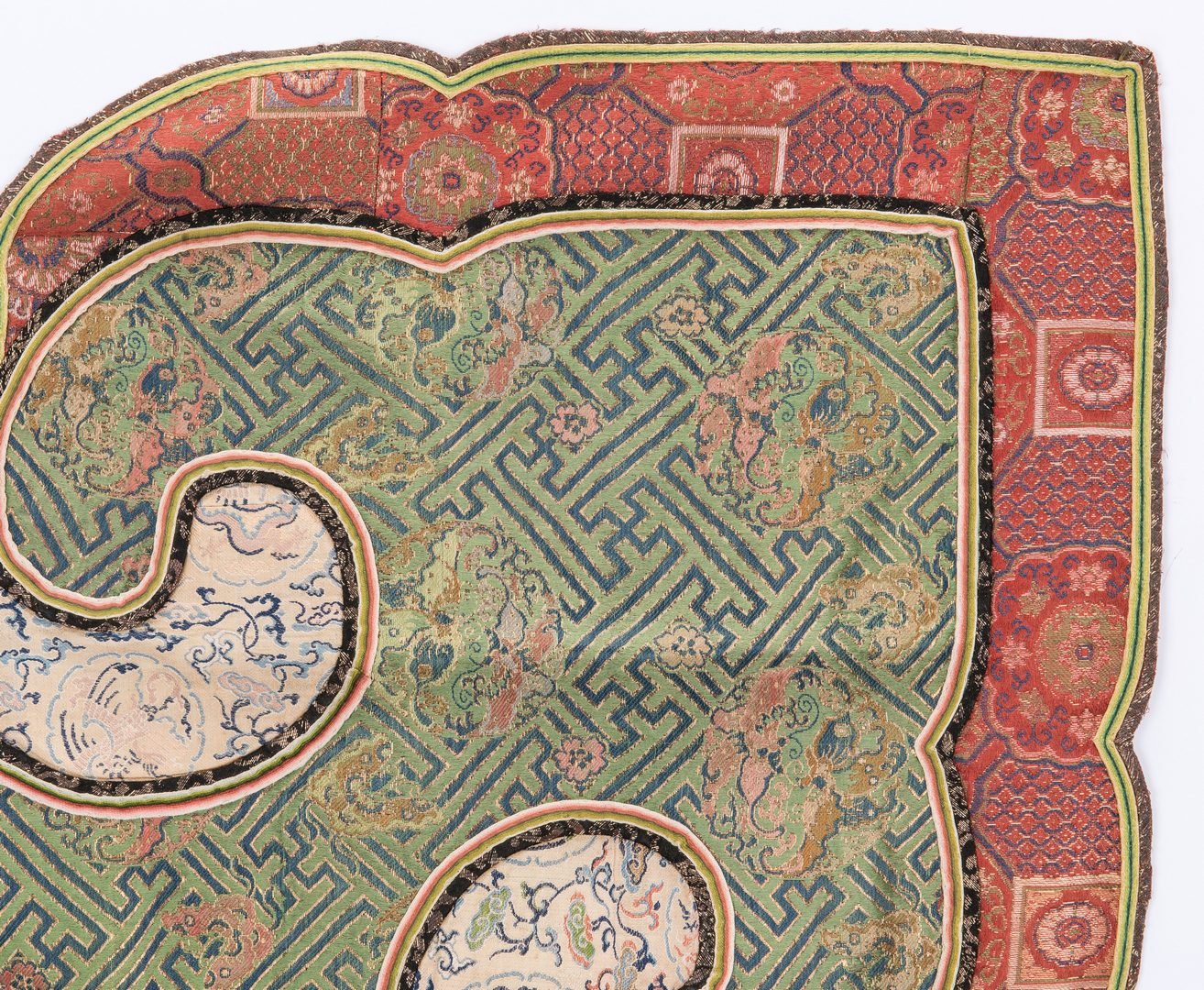 Lot 23: 2 Thangkas and 1 Chinese Embroidery, 3 items