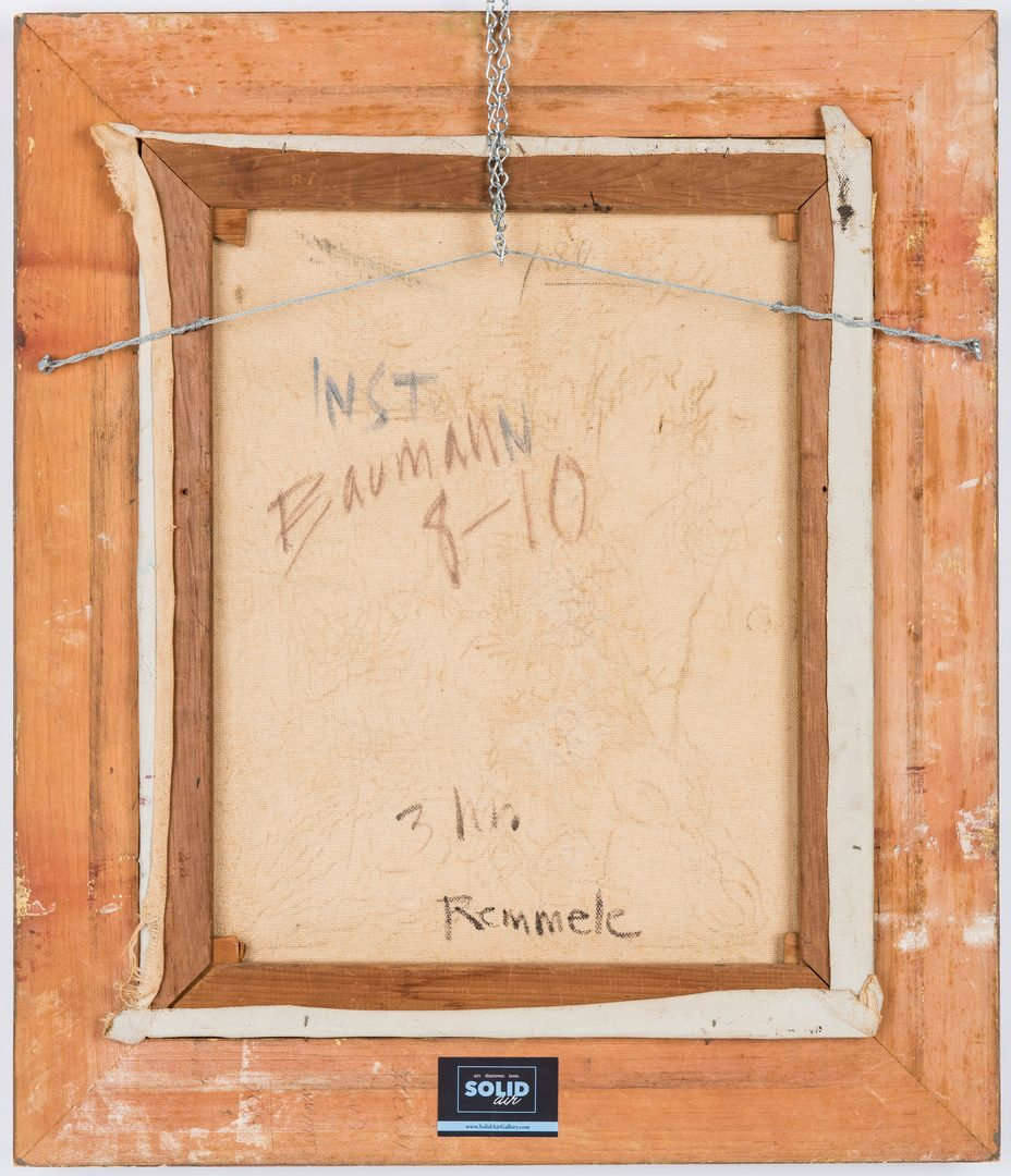 Lot 243: Attr. Karl Hermann Baumann, Cubist Still Life with Wine and Guitar