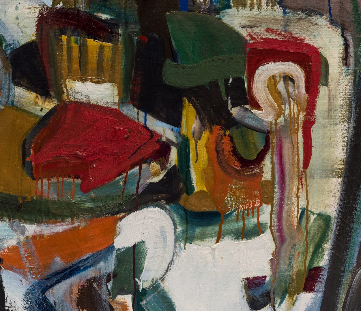 Lot 248: Merlin C. Dailey O/C expressionist painting, Interior with New Objects