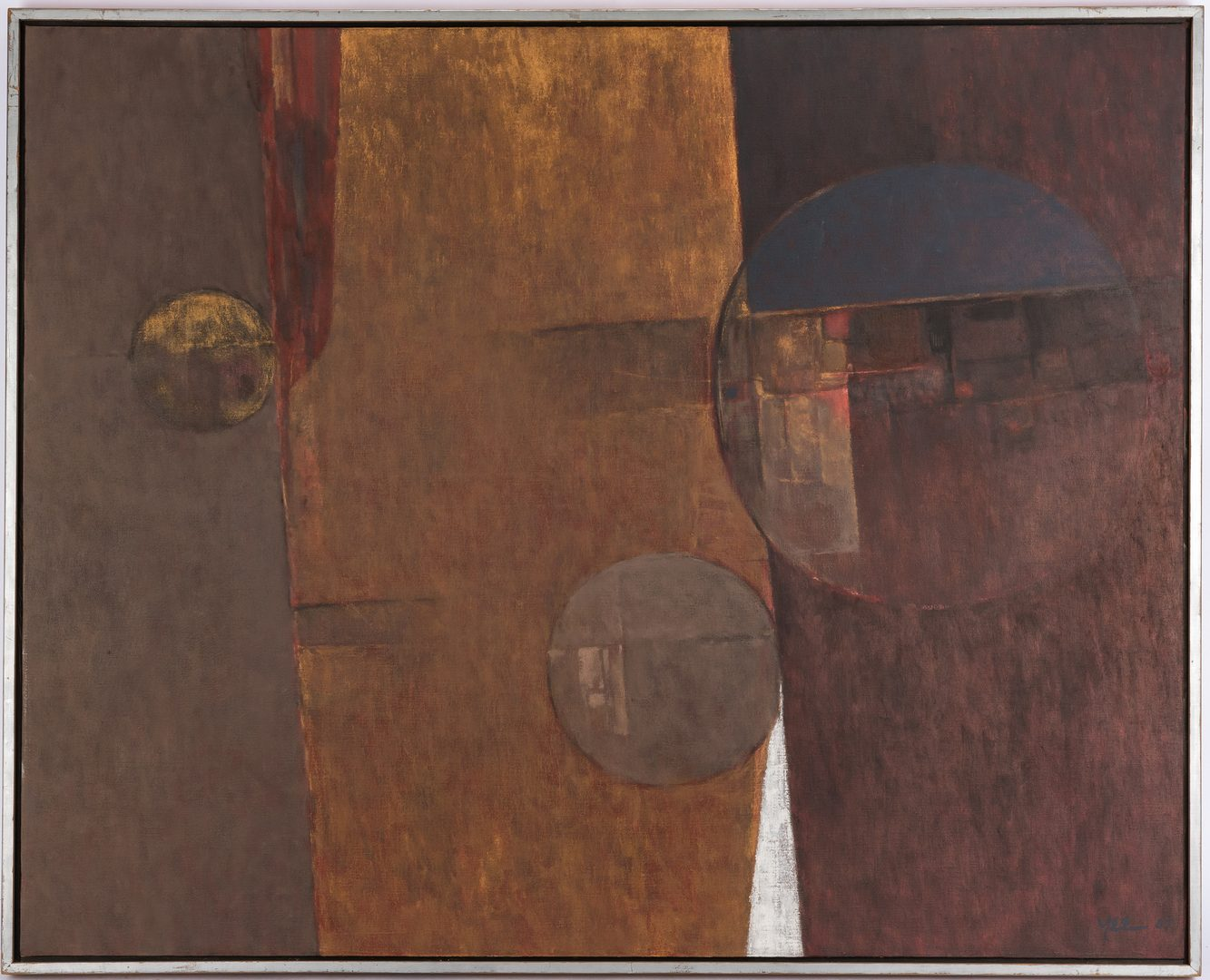Lot 249: Steve Yee O/C Abstract Painting, Formation Down