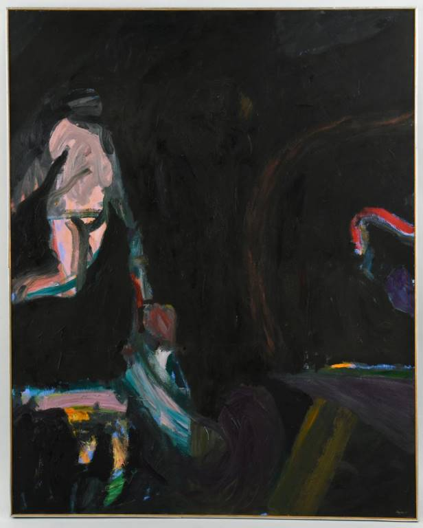 Lot 253: Ronald Taylor oil on canvas, Witness