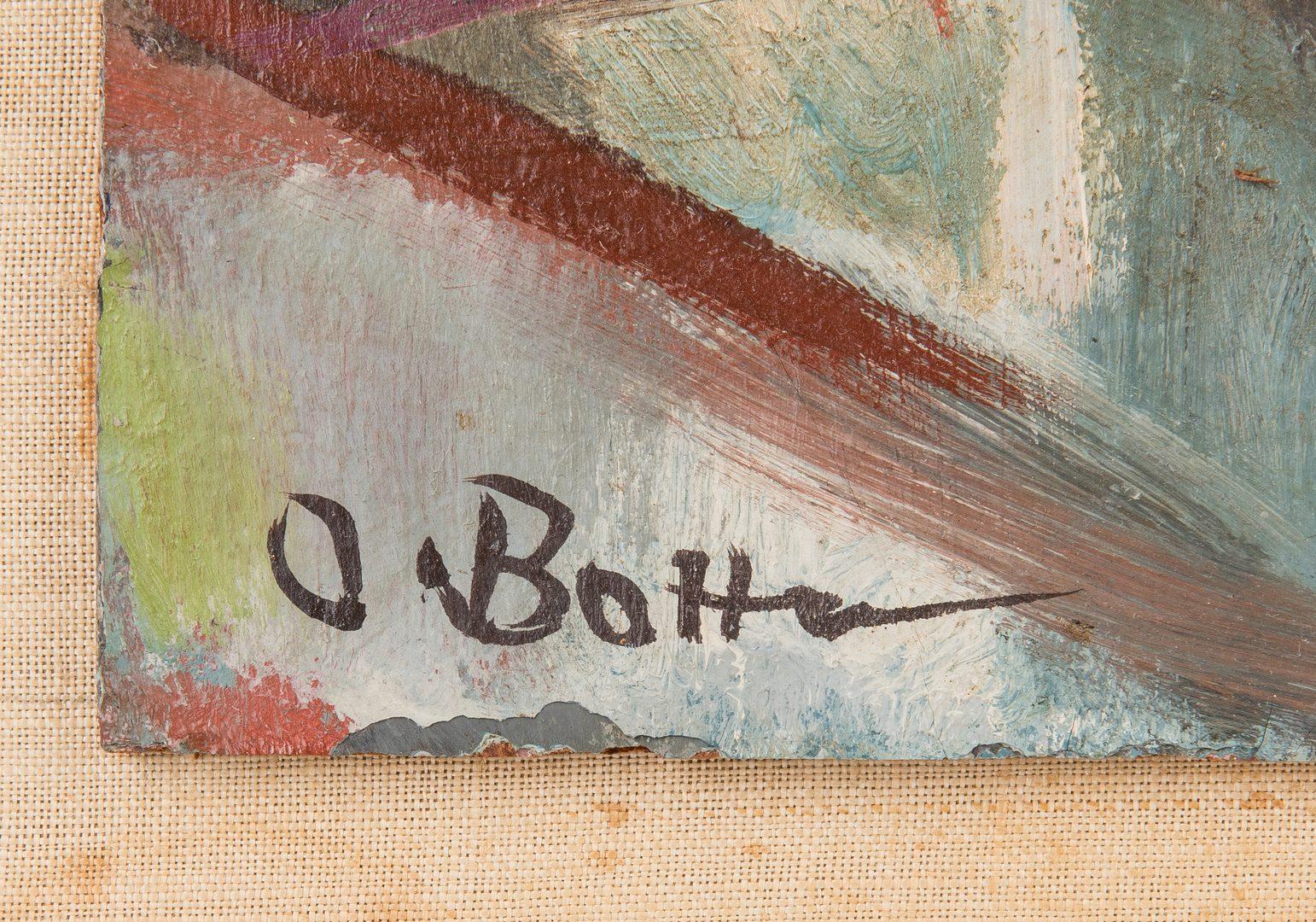 Lot 256: Otto Botto O/C Abstract Painting, Sail Boats